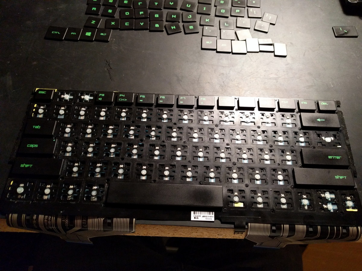 Image 20: Reattaching the Key Caps