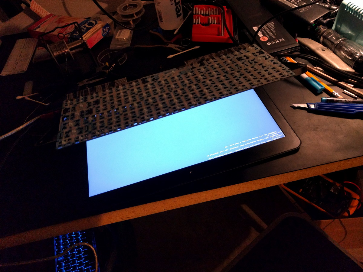 Image 15: Booting Torn Down System to Test Keyboard Fix